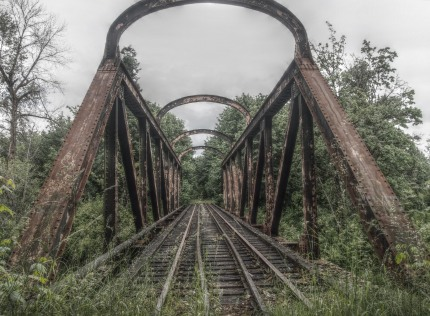 Koksilah River railroad bridge