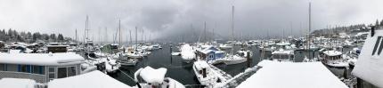 Cowichan Bay marinas pano